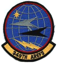 USAF PATCH 349 AIR REFUELING SQUADRON DESERT